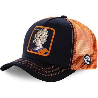 Casquette trucker noire et orange pour enfant Son Goku Super Saiyan KID_GO3 Dragon Ball Capslab