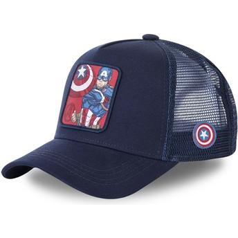 Casquette trucker bleue marine pour enfant Captain America KID_CPT1 Marvel Comics Capslab