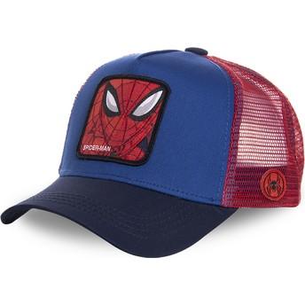 Casquette trucker bleue et rouge pour enfant Spider-Man KID_SPI1 Marvel Comics Capslab