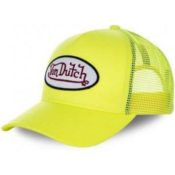 Casquette trucker jaune pour enfant KID_FRESH5 Von Dutch