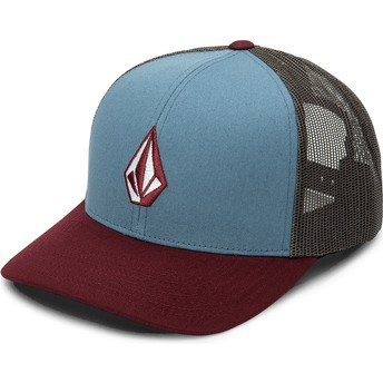 Casquette trucker bleue, noire et rouge Full Stone Cheese Stormy Blue Volcom