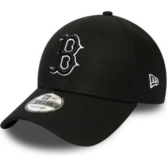 Casquette courbée noire ajustable 9FORTY Diamond Era Essential Boston Red Sox MLB New Era