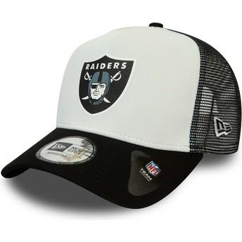 Casquette trucker blanche et noire Team Colour Block A Frame Las Vegas Raiders NFL New Era