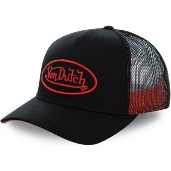 Casquette trucker noire NEO RED Von Dutch