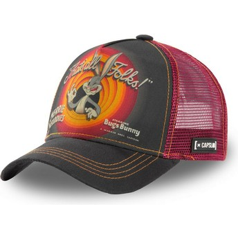 Casquette trucker grise et rouge Bugs Bunny RIN1 Looney Tunes Capslab