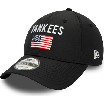 Casquette courbée noire ajustable 9FORTY Team Flag New York Yankees MLB New Era