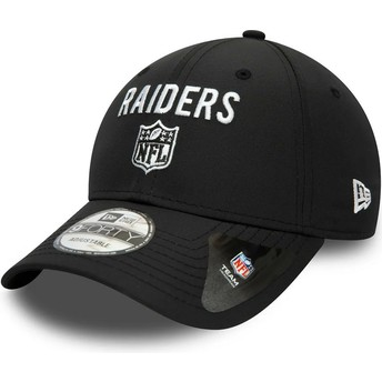Casquette courbée noire ajustable 9FORTY Team Flag Las Vegas Raiders NFL New Era