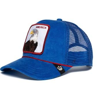 Casquette trucker bleue aigle America For Real Goorin Bros.
