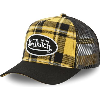 Casquette trucker jaune à carreaux CAR A2 Von Dutch