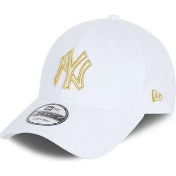 Casquette courbée blanche ajustable 9FORTY Metallic Logo New York Yankees MLB New Era