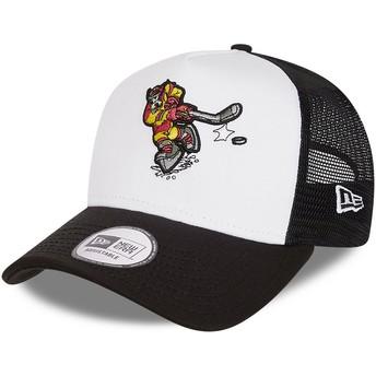Casquette trucker blanche et noire Character Sports A Frame Dingo Goofy Ice Hockey Disney New Era