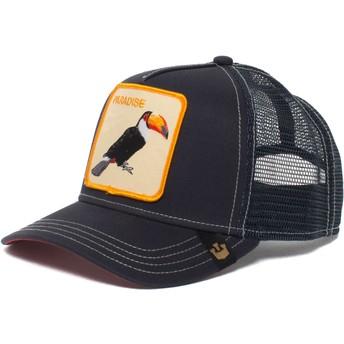 Casquette trucker bleue marine toucan Take Me To Goorin Bros.