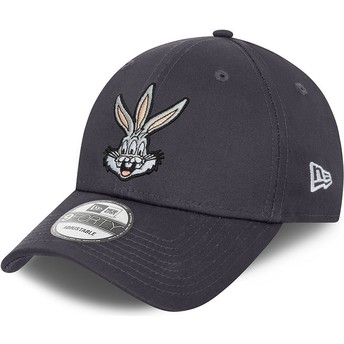 Casquette courbée grise ajustable 9FORTY Bugs Bunny Looney Tunes New Era
