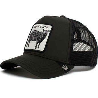 Casquette trucker noire mouton Be Reckless Goorin Bros.