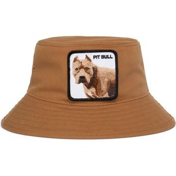 Chapeau seau marron chien pitbull Misunderstood Goorin Bros.