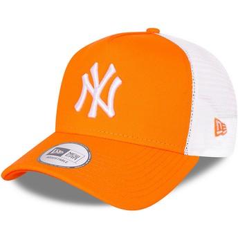 Casquette trucker orange A Frame Tonal Mesh New York Yankees MLB New Era