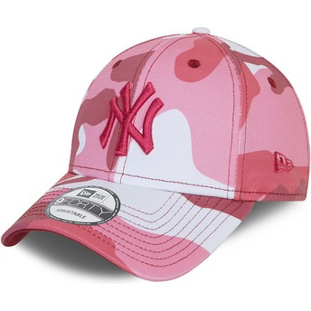 Casquette courbée camouflage rose ajustable avec logo rose 9FORTY New York Yankees MLB New Era