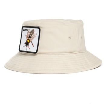 Chapeau seau blanc abeille Queen Bee-Witched The Farm Goorin Bros.