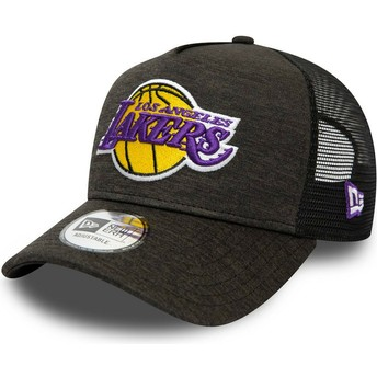 Casquette trucker noire Shadow Tech A Frame Los Angeles Lakers MLB New Era