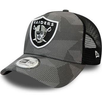 Casquette trucker camouflage noire A Frame Las Vegas Raiders NFL New Era
