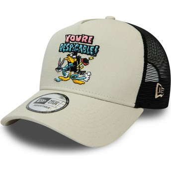 Casquette trucker grise Character A Frame Daffy Duck Looney Tunes New Era