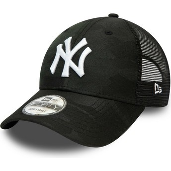 Casquette courbée camouflage noire ajustable 9FORTY Home Field New York Yankees MLB New Era