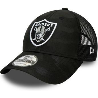 Casquette courbée camouflage noire ajustable 9FORTY Home Field Las Vegas Raiders NFL New Era