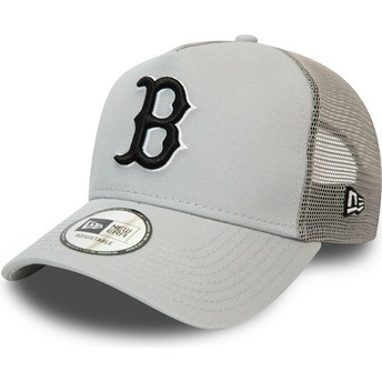 Casquette trucker grise avec logo noir League Essential A Frame Boston Red Sox MLB New Era