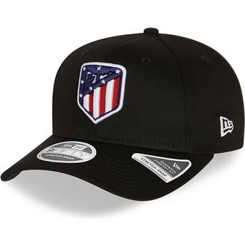 Casquette courbée noire snapback 9FIFTY Essential Stretch Fit Atlético de Madrid LFP New Era
