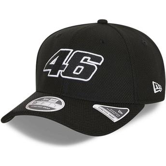 Casquette courbée noire snapback 9FIFTY Diamond Era Stretch Fit Valentino Rossi VR46 New Era