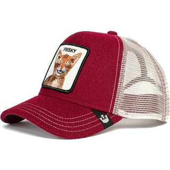 Casquette trucker rouge chat Frisky Whisky The Farm Goorin Bros.