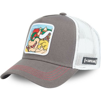 Casquette trucker grise Bowser BOW Super Mario Bros. Capslab