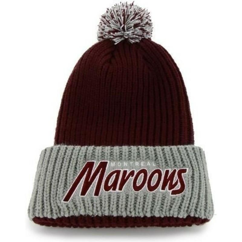 03dfd27104 Bonnet rouge avec pompon Montreal Maroons NHL 47 Brand: acheter en ...