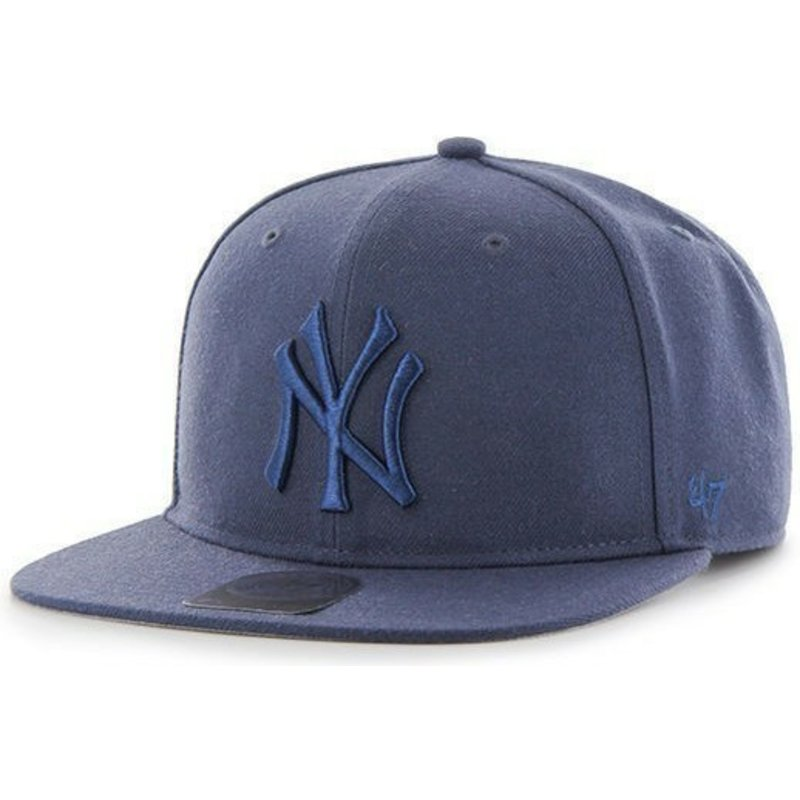 casquette-plate-bleue-snapback-avec-grand-logo-new-york-yankees-mlb-no-shot-47-brand