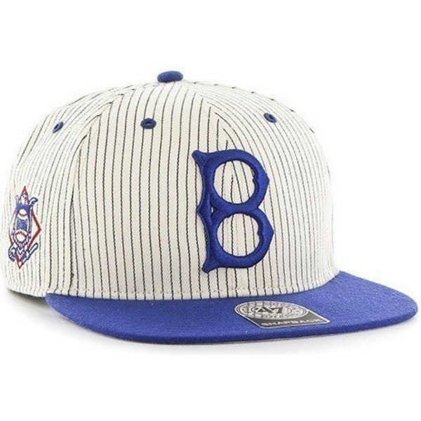 casquette-plate-grise-snapback-avec-rayures-bleues-los-angeles-dodgers-mlb-47-brand