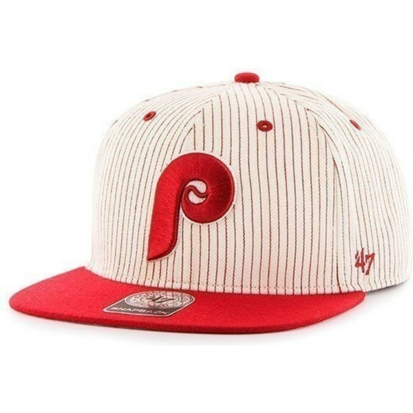 casquette-plate-grise-snapback-avec-rayures-rouges-philadelphia-phillies-mlb-47-brand