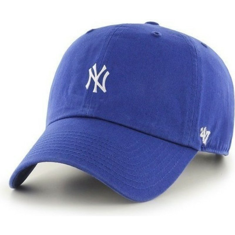 casquette-courbee-bleue-new-york-yankees-mlb-clean-up-47-brand
