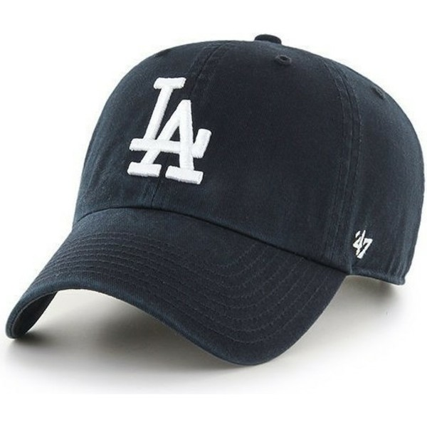 casquette-courbee-noire-los-angeles-dodgers-mlb-clean-up-47-brand