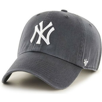 Casquette courbée grise New York Yankees MLB Clean Up 47 Brand