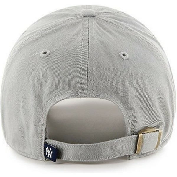 casquette-courbee-grise-new-york-yankees-mlb-clean-up-47-brand