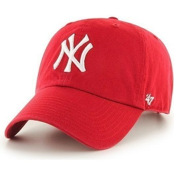 Casquette courbée rouge New York Yankees MLB Clean Up 47 Brand