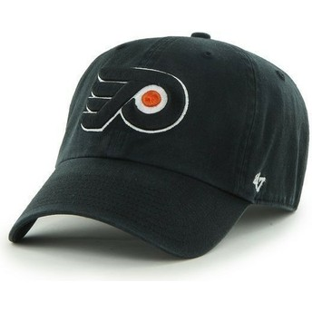 Casquette courbée noire Philadelphia Flyers NHL Clean Up 47 Brand