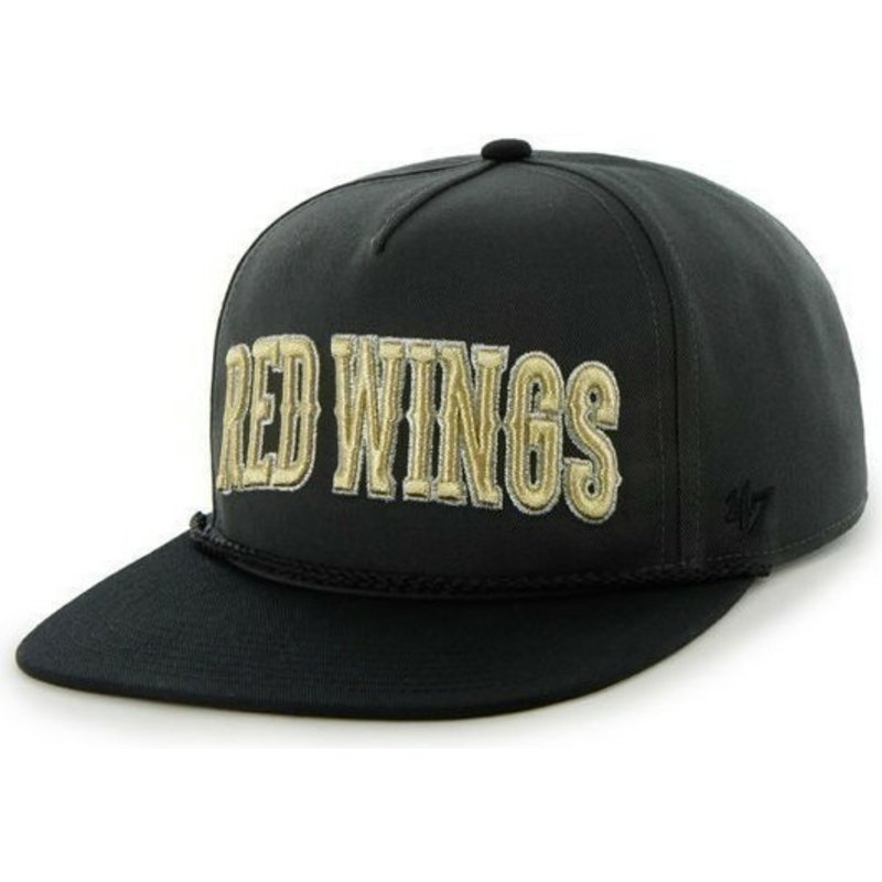 casquette-plate-noire-snapback-boston-red-wings-nhl-47-brand