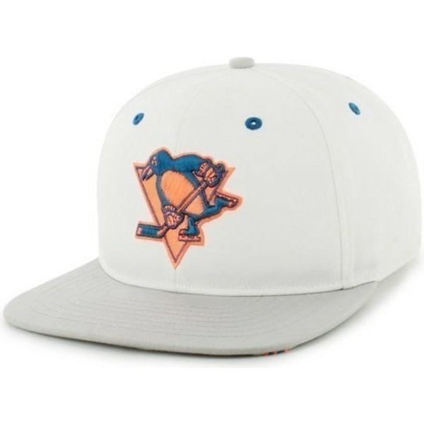 casquette-plate-blanche-snapback-pittsburgh-penguins-nhl-47-brand