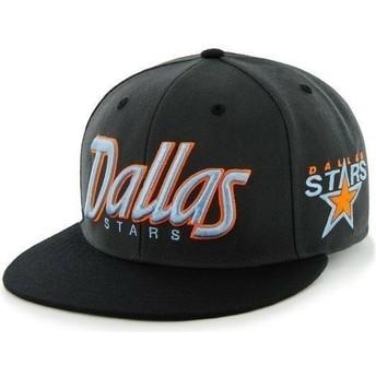Casquette plate noire snapback avec lettres de Dallas Stars NHL 47 Brand