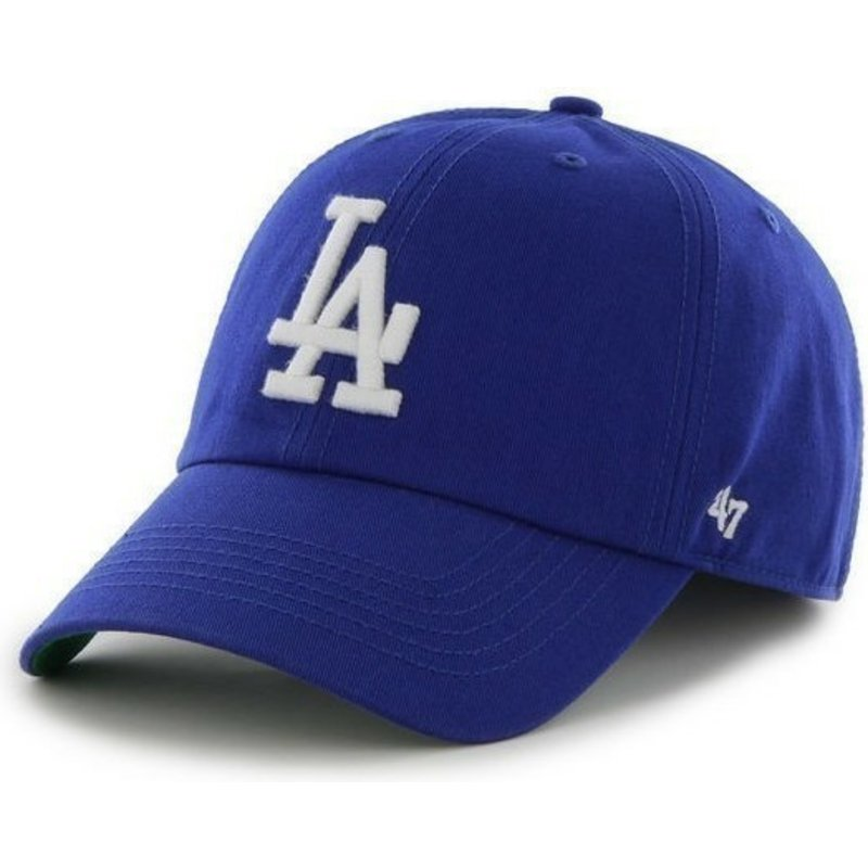 casquette-courbee-bleue-los-angeles-dodgers-mlb-franchise-47-brand