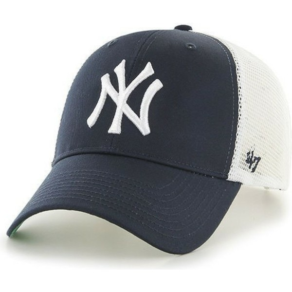 casquette trucker bleu marine mlb newyork yankees 47 brand acheter en ligne sur caphunters. Black Bedroom Furniture Sets. Home Design Ideas