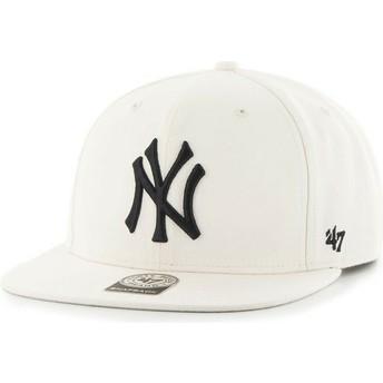 Casquette plate blanc uni snapback MLB NewYork Yankees 47 Brand