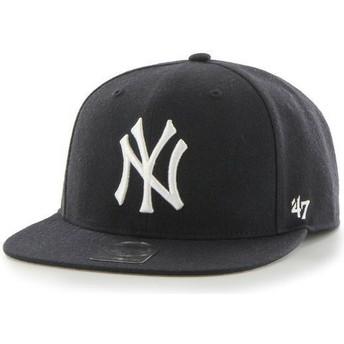 Casquette plate bleue marine snapback uni MLB NewYork Yankees 47 Brand