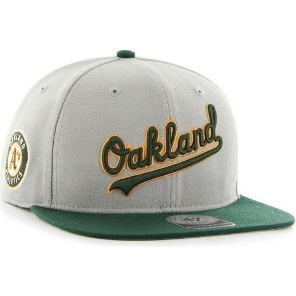 casquette-plate-grise-snapback-avec-logo-lateral-mlb-oakland-athletics-47-brand